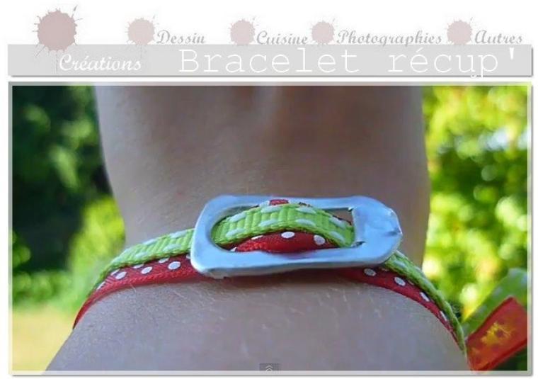 DIY Bracelet récup' avec une languette de Soda