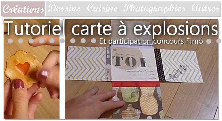 DIY Carte à explosion & créations en Fimo