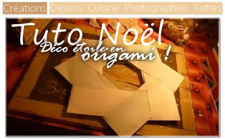 DIY Réaliser une étoile de Noël en Origami