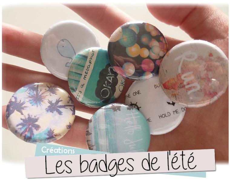Les badges de l'été à imprimer