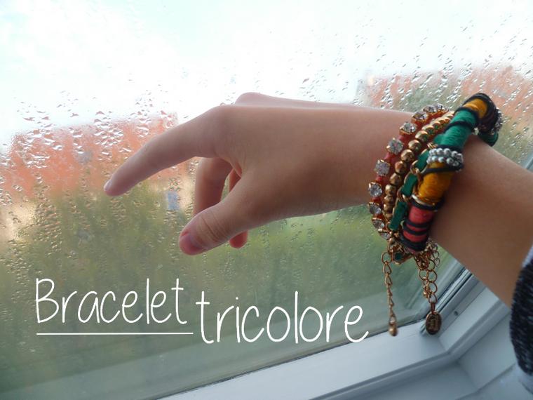 DIY - Bracelet tricolore, de la couleur pour cet automne !
