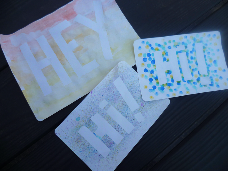 DIY 3 cartes à l'aquarelle