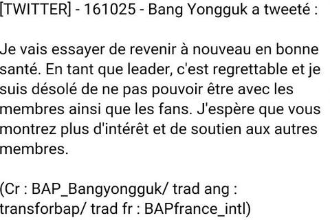 L'état de Bang Yong Guk