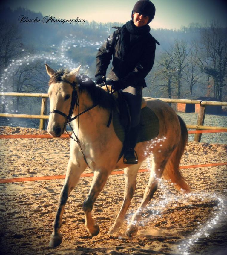 L'amour entre le cheval & son cavalier sa s'enlève pas