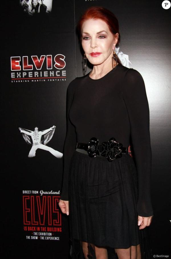 Priscilla Presley à la soirée « Elvis The Exhibition - The Show - The Experience » à Las Vegas, le 23 avril 2015...