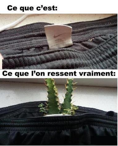 Les étiquettes derrière les vêtements!