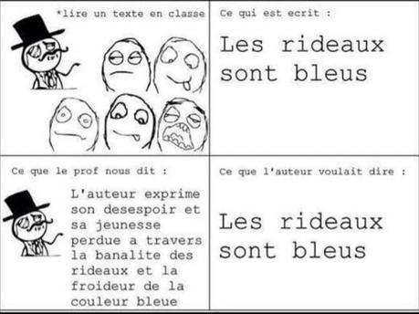 Nos profs de français, tous les mêmes..