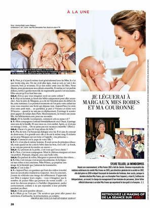 Découvrez l'interview de Sylvie Tellier pour le magazine GALA.