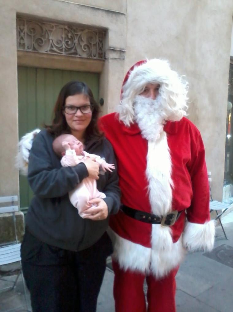 Ma fille et son 1er Noel