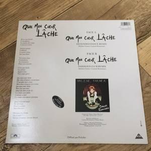 """LASER DISC """"Music Videos"""" / MAXI 45T """"Que Mon Coeur Lâche"""""""