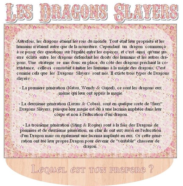 Les dragons slayers • Fairy Tail