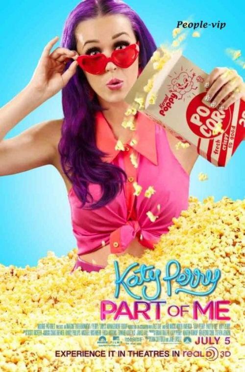 """Posters du film en 3D de Katy Perry, """"Part Of Me"""" qui sortira le 5 juillet prochain."""