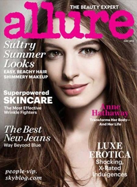 Anne Hathaway en couverture du magazine Allure.