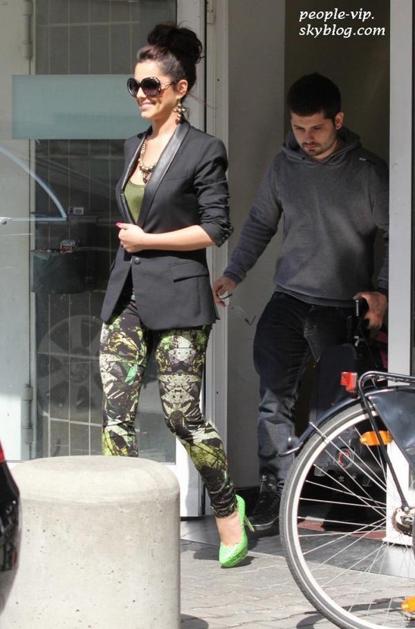 Cheryl Cole quittant une station radio à Berlin, en Allemagne. Vendredi, 22 juin