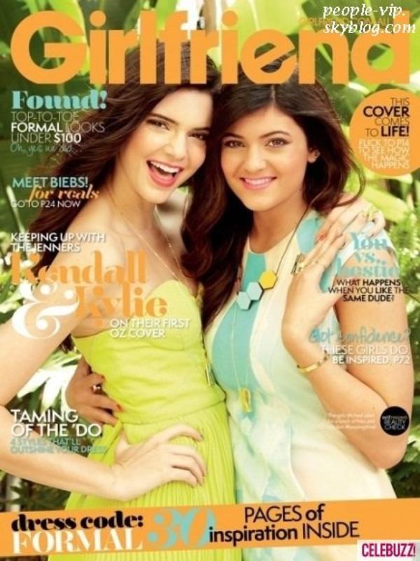 """Kendall et Kylie Jenner font la une du magazine australien """"Girlfriend"""""""