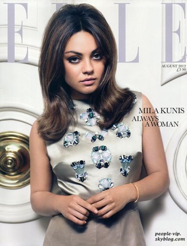 Mila Kunis en couverture du magazine Elle.