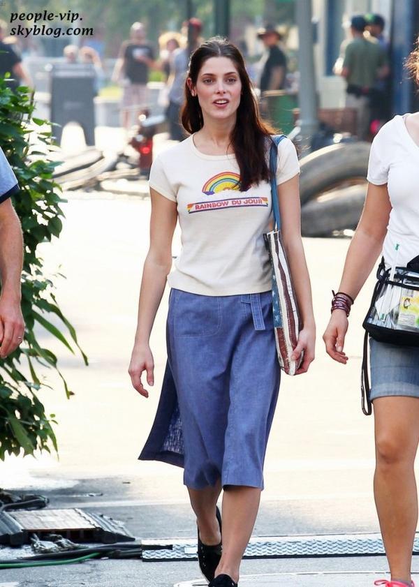 Ashley Greene sur le tournage de son prochain film CBGB à Savannah, en Géorgie. Lundi, 02 juillet