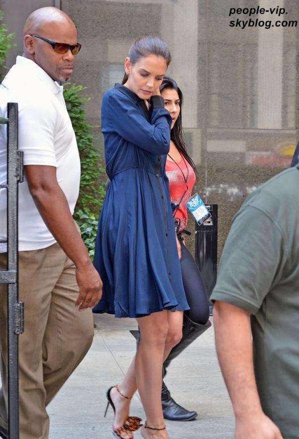 Première apparition de Katie Holmes après l'annonce officielle de son divorce de Ton Cruise, à New York. Lundi, 02 juillet