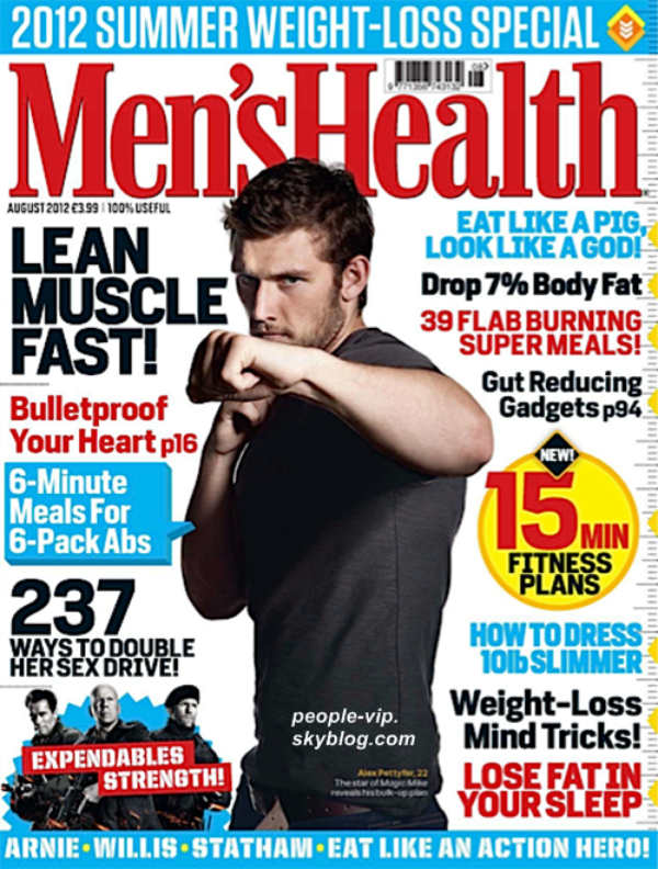 Alex Pettyfer en couverture du magazine anglais Men's Health.