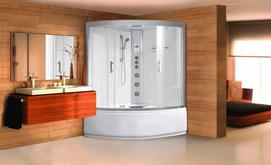 Different features of a steam shower