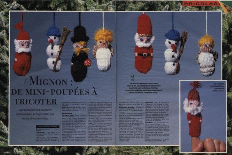 tricoter des marionnettes au doigt.