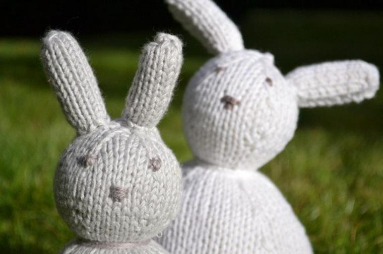 tuto : tricoter un lapin de pâques.