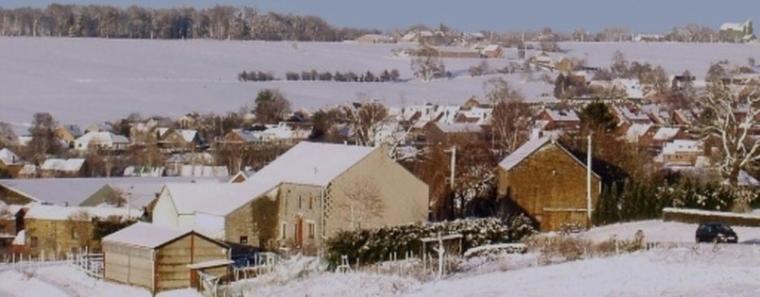 Neige sur Hamois en 2011