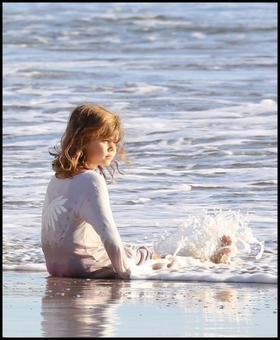 Sortie familiale à la plage, le 1er décembre