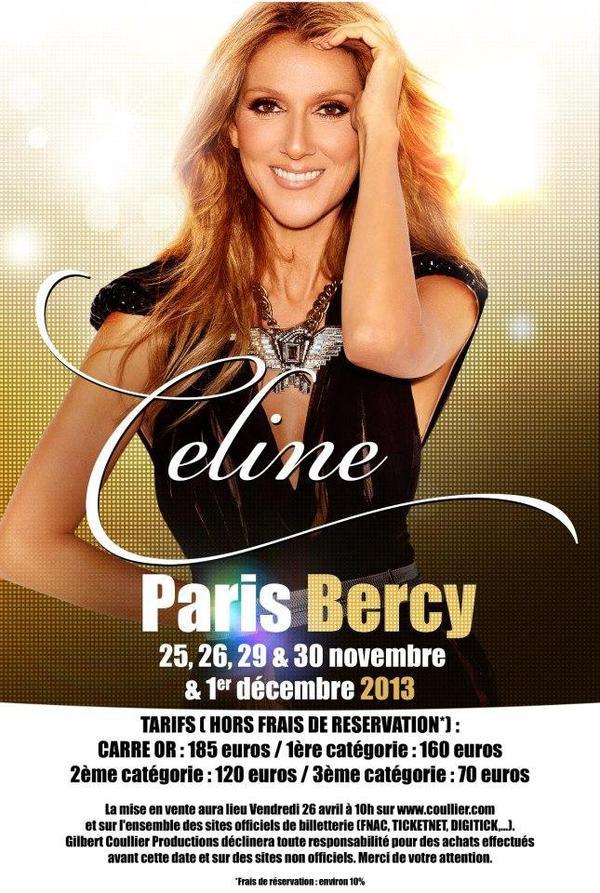 Céline en concert à Paris : concert supplémentaire le 4 décembre