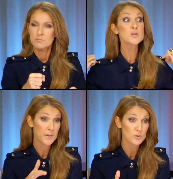 Céline Dion reçoit les journalistes du monde entier