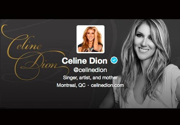 Céline Dion très excitée sur Twitter