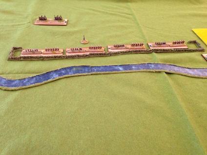 Positions Espagnoles, situées à l'abri d'un fossé