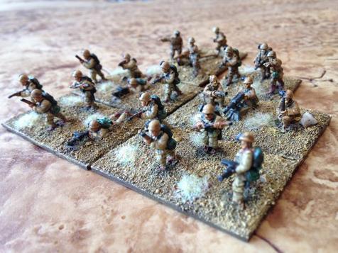 Règle blitzkrieg, Italiens du désert en 15mm