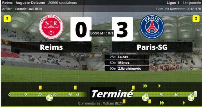 • Le géant Paris fait craquer Reims !