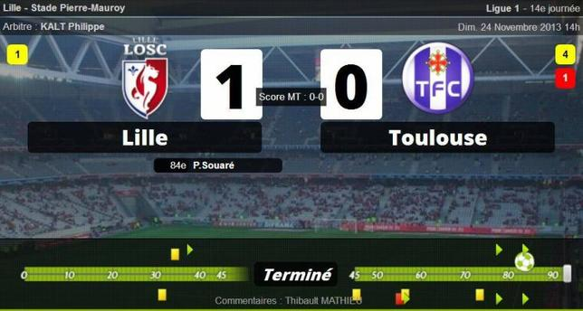 • Toulouse solide, Lille trop fort !