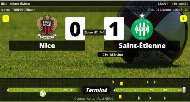 • Nice n'y arrive plus, Saint-Etienne se relance !
