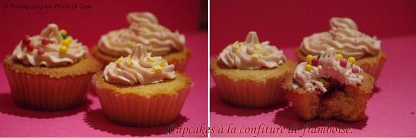Cupcakes à la confiture de framboise