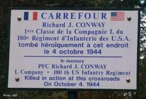 Plaque de rue Conway - Conway sign.