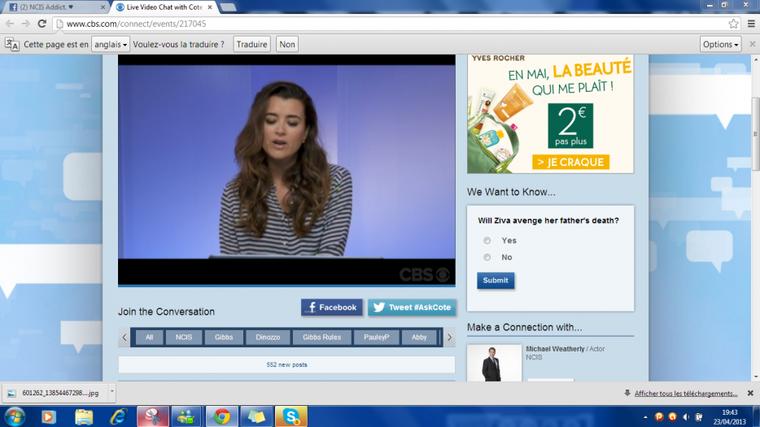 Live Vidéo Chat De Cote de Pablo ;)