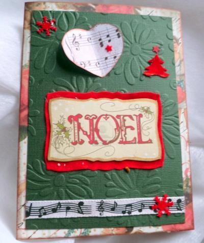 70 - Scrapbooking - Carte pour Noël