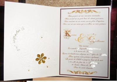 109 - Scrapbooking - Faire part de mariage : couple de mariés