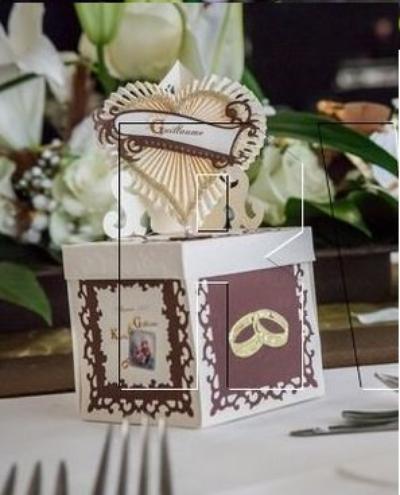 118 - Déco de mariage - boîte menu finie