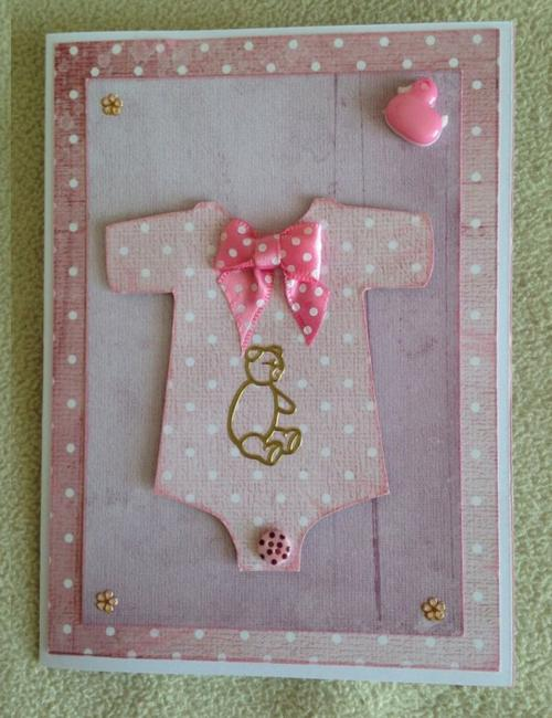 127 - Scrapbooking - Carte de naissance bébé