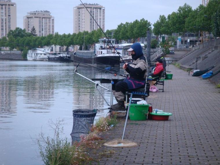 une parti de pêche partage