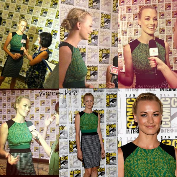 Le 20 juillet 2013, Yvonne a fait le tour des journalistes au Comic Con pour faire la promotion du film I,Frankenstein à San Diego