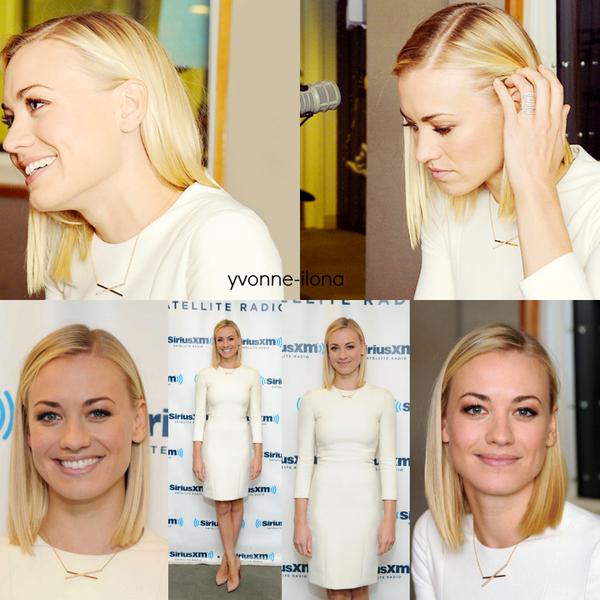 """Le 21 janvier 2014, Yvonne a été vu en arrivant le studio SiriusXM Studios à New York City (son souriante *-*) et en sortant, puis elle est allée à l'interview """"The Today Show"""""""