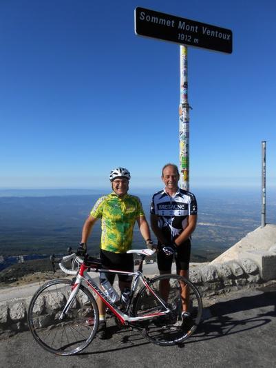 Claude et Pascal au Mont Ventoux (juillet 2012)