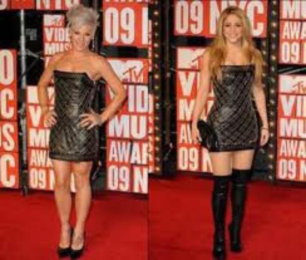 Cette robe est plus belle sur Shakira ou Pink?:)
