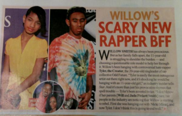 Odd Future & Willow ... Une Jeune enfant, meilleure amie ac un adulte sataniste.