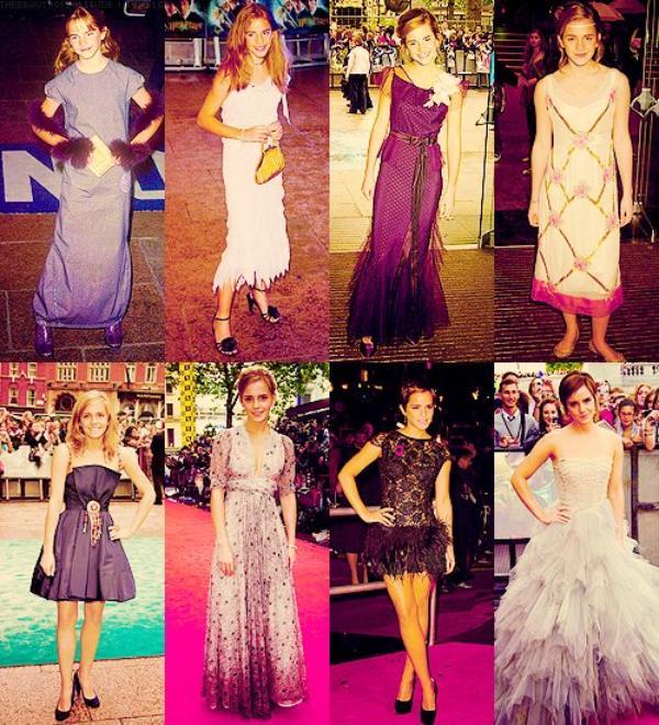 Emma Watson au fil du temps...